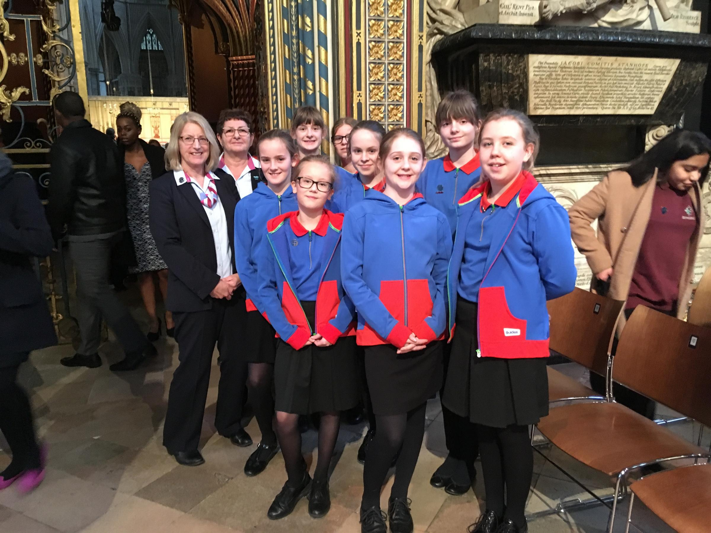 Girl guides represent at Commonwealth Service