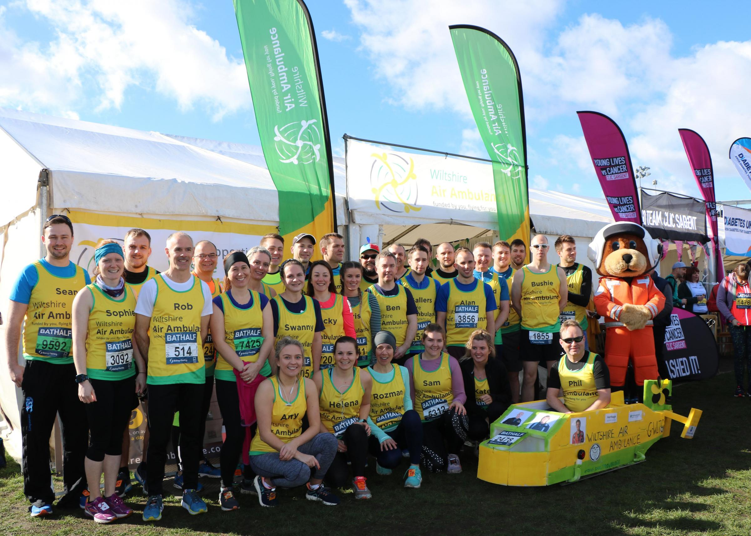 Wiltshire Air Ambulance is inviting runners to help celebrate its 30th anniversary on the same day as next year's Bath Half Marathon