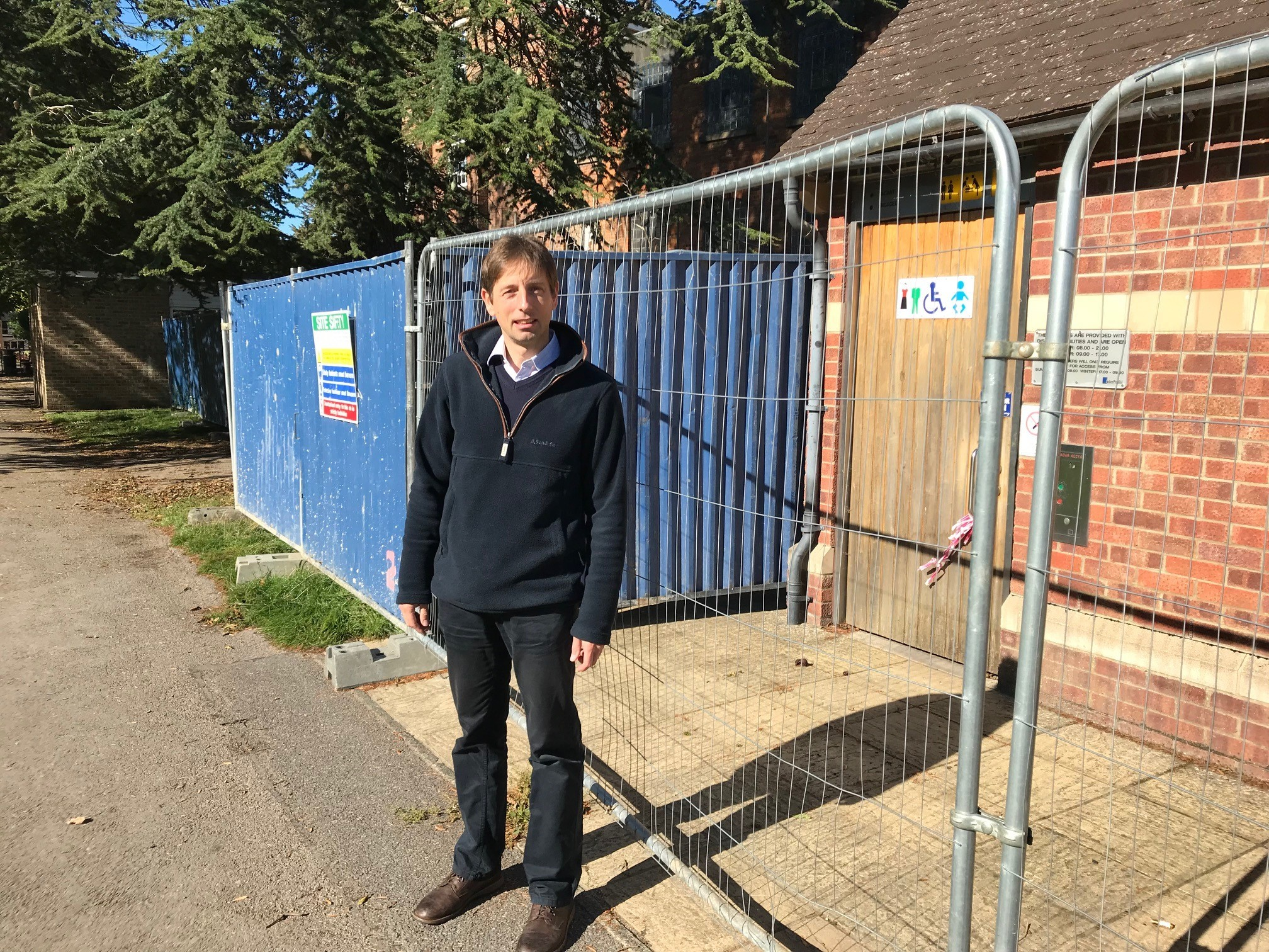 Town's apology over toilet block