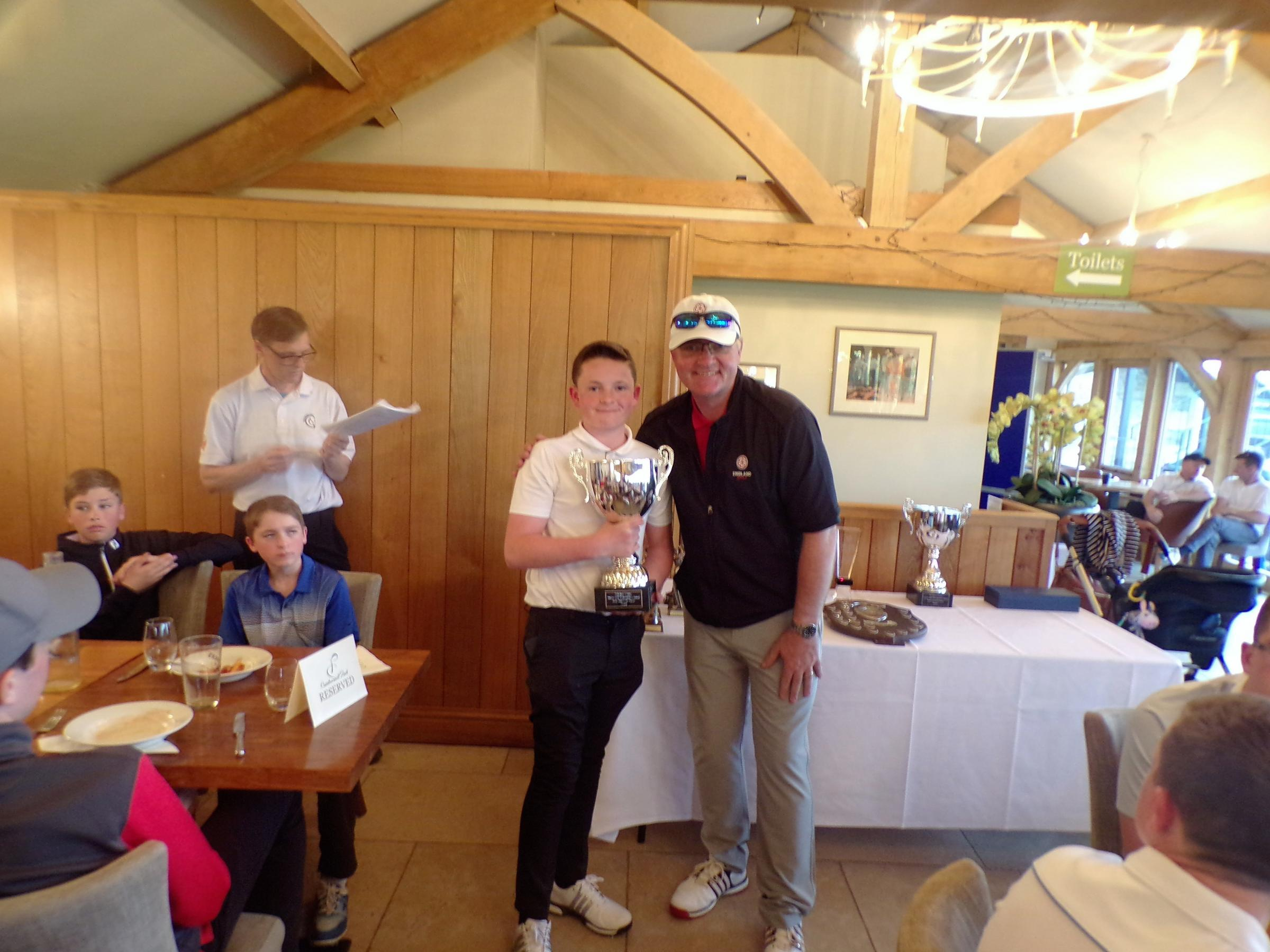 Joe Barker was the most improved player in the Wiltshire Junior Golf performance squad