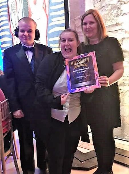 Fairfield Farm College won a runners-up award in the Village Shop 2019 Wiltshire Life Awards.