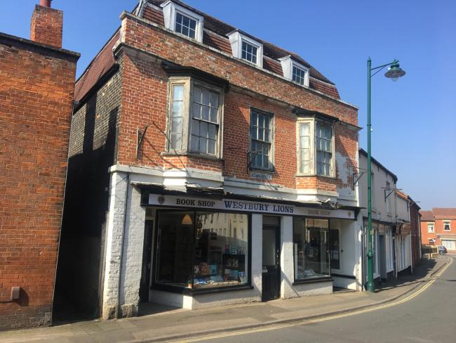 The double-fronted shop at 14-16 Edward Street, Westbury, which has just been sold at auction