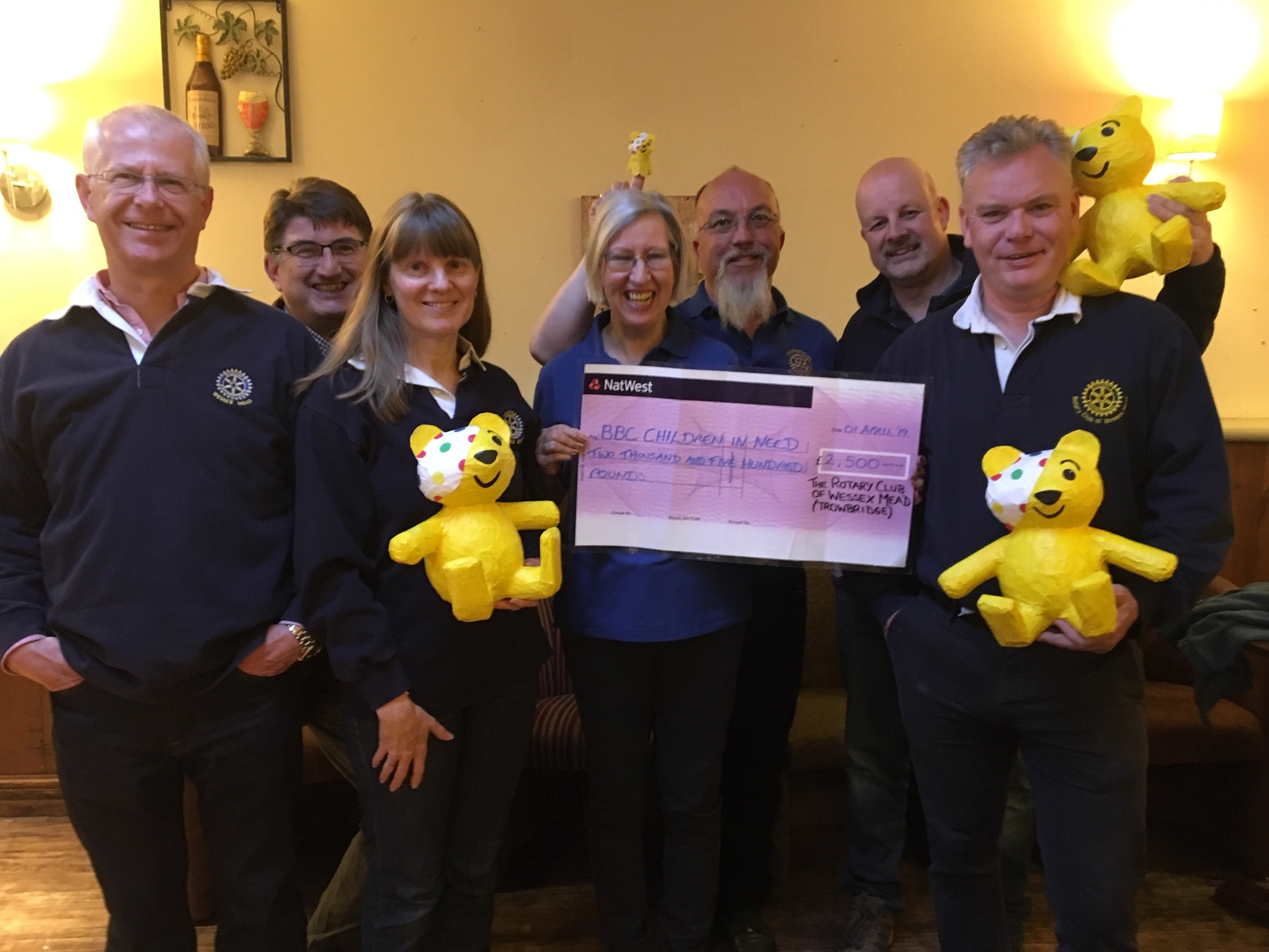 Wessex Mead Rotary delighted with success of first Children in Need dinner