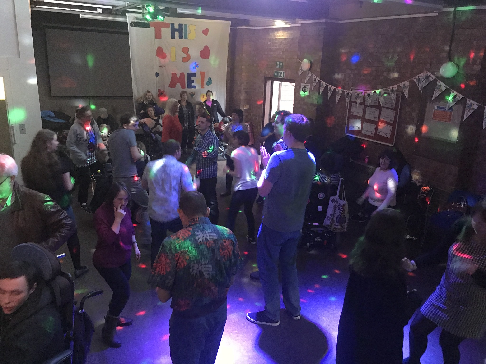 Disco night for disabled is a musical hit