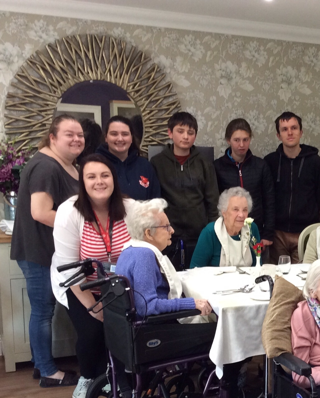 Young meet old at Trowbridge care home