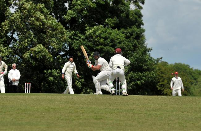 A Hinton Charterhouse batsman flicks the ball away during his side's three-wicket defeat away at Purton on Saturday 						Picture: Dave Cox