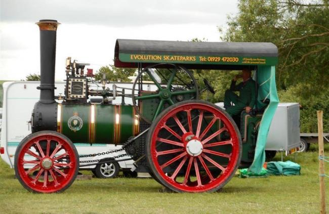 The show had booked three large steam engines
